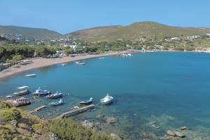 Beaches of Patmos, Katina rooms Patmos island hotels port apartments accommodation